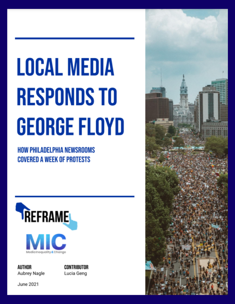 Cover of the local Media Responds to George Floyd report