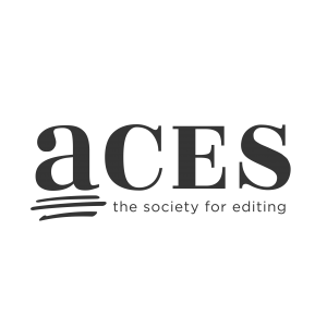 Logos for ACES: The Society for Editing, a professional organization for copy editors